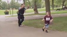 מרתון ילדים נגד שוטרים